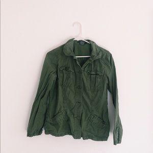 lightweight green army jacket